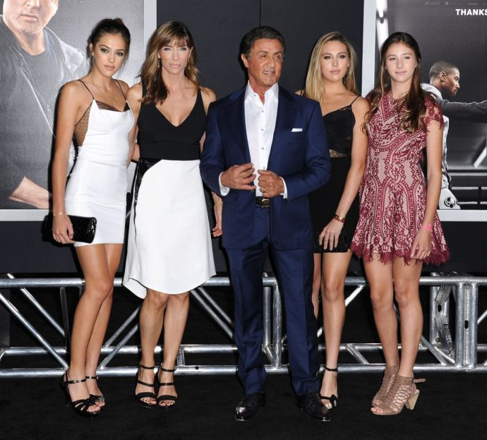 stallone y sus mujeres
