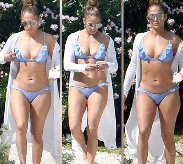 FotosPaparazzean Y López Jennifer En Bikini Sin A Maquillaje 76gybfvIY