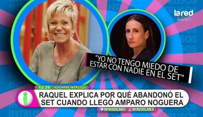 Raquel Argandoña explica por qué se fue del set de