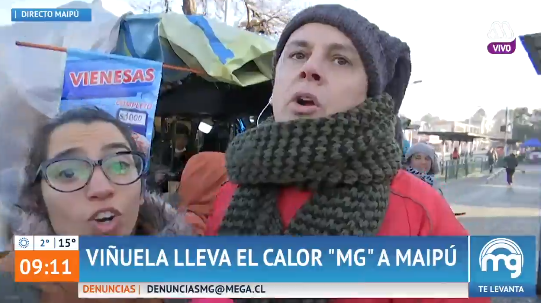 Viñuela vivió incómodo momento al entrevistar a un transeúnte para
