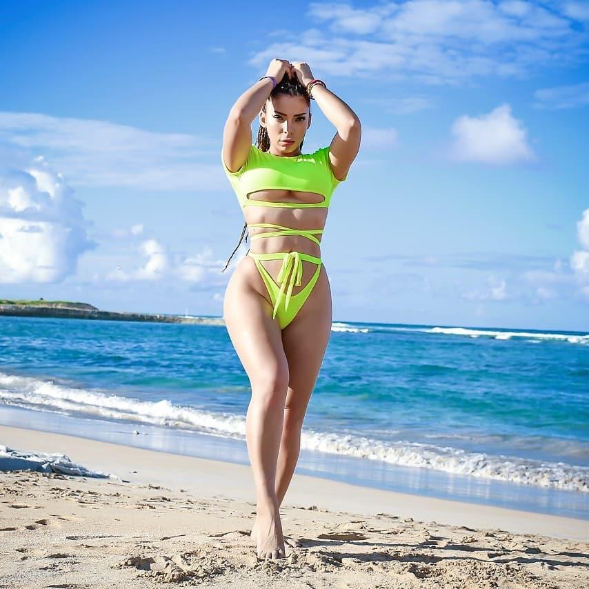 Geri Hoops sube la temperatura con nuevas fotos en bikini