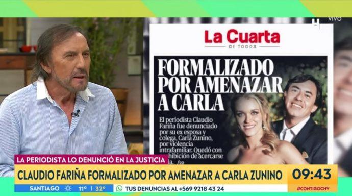 Claudio Fariña responde a Carla Zunino con controversial mensaje