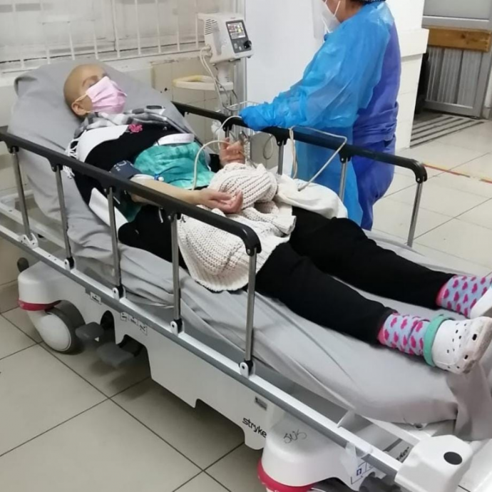 mila hospitalizada